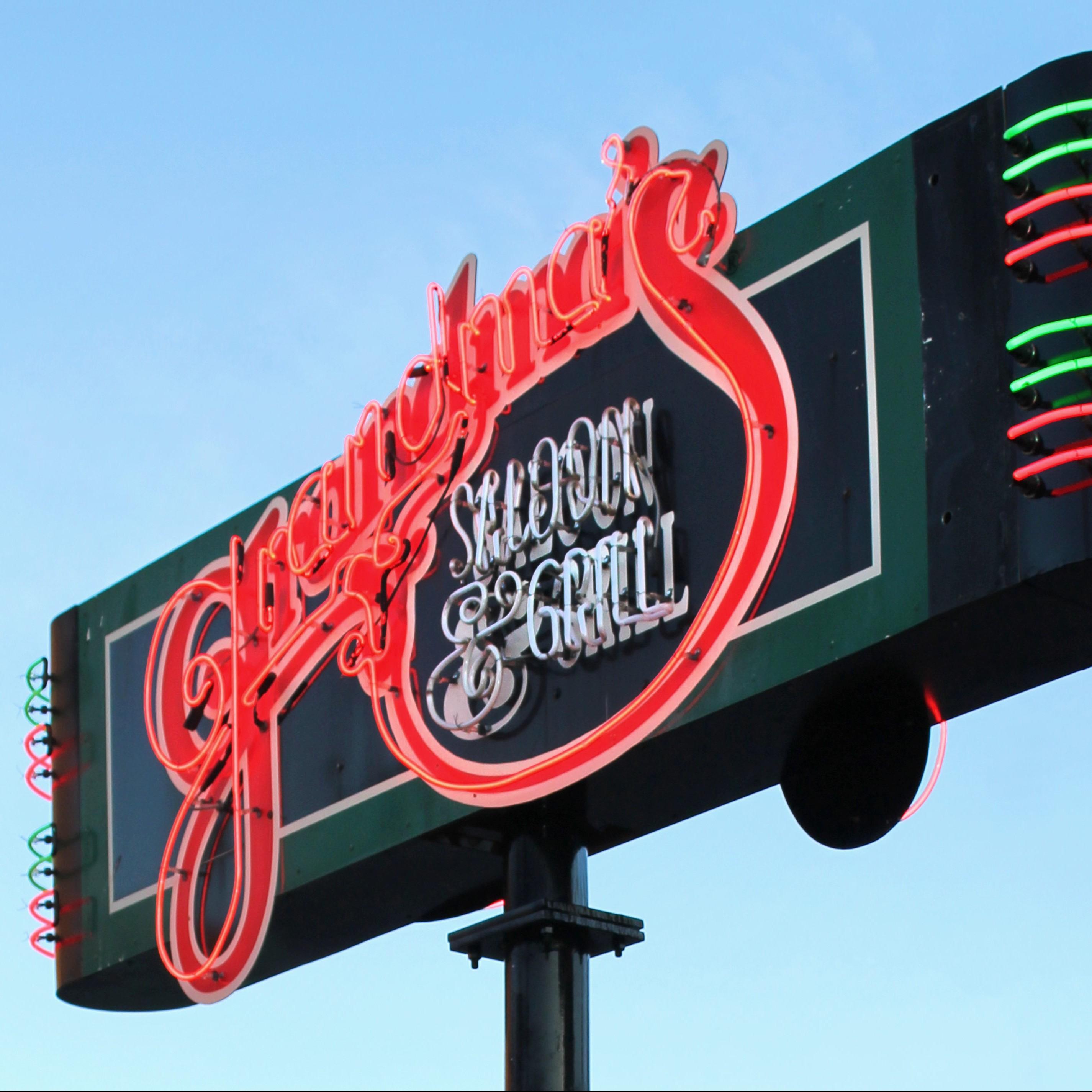 Grandma's Saloon & Grill Street Sign