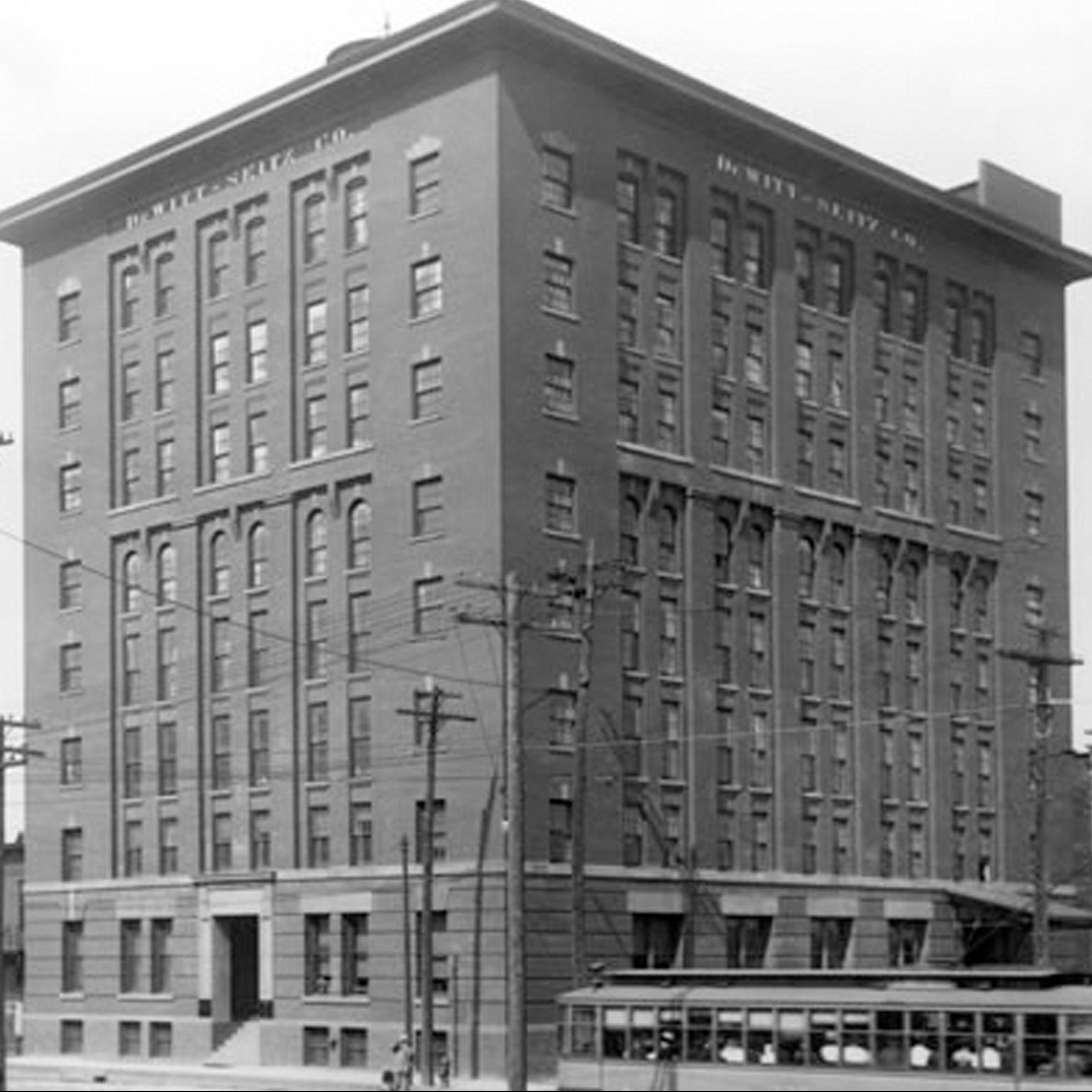 Old historical photo of DeWitt Seitz building