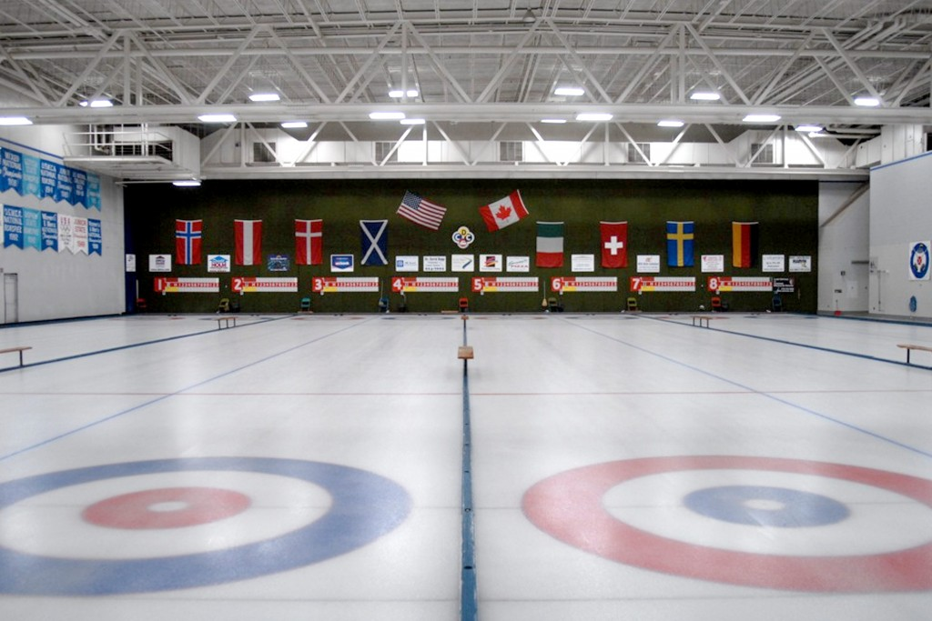 Inside Duluth Curling Club