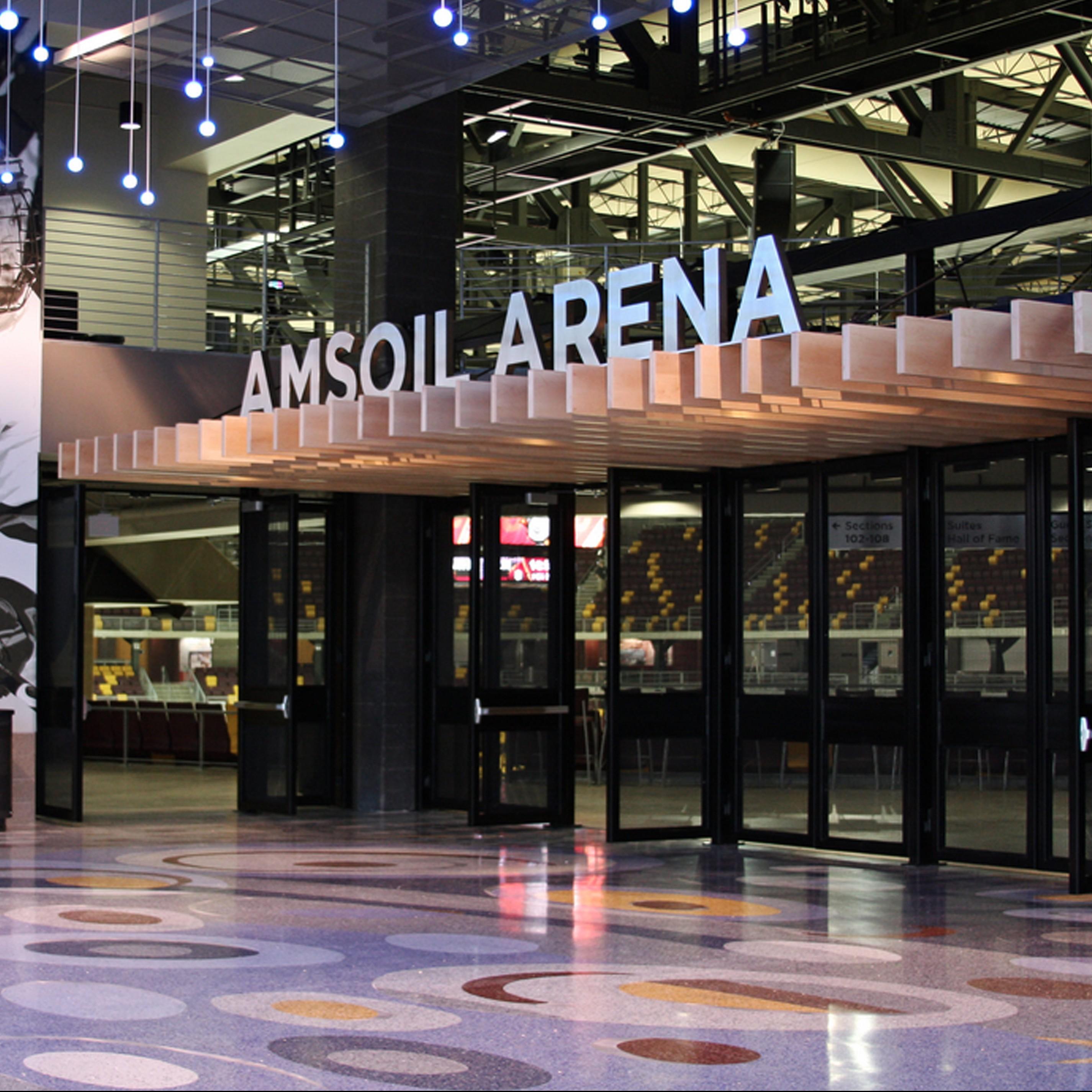 Amsoil Arena entrance