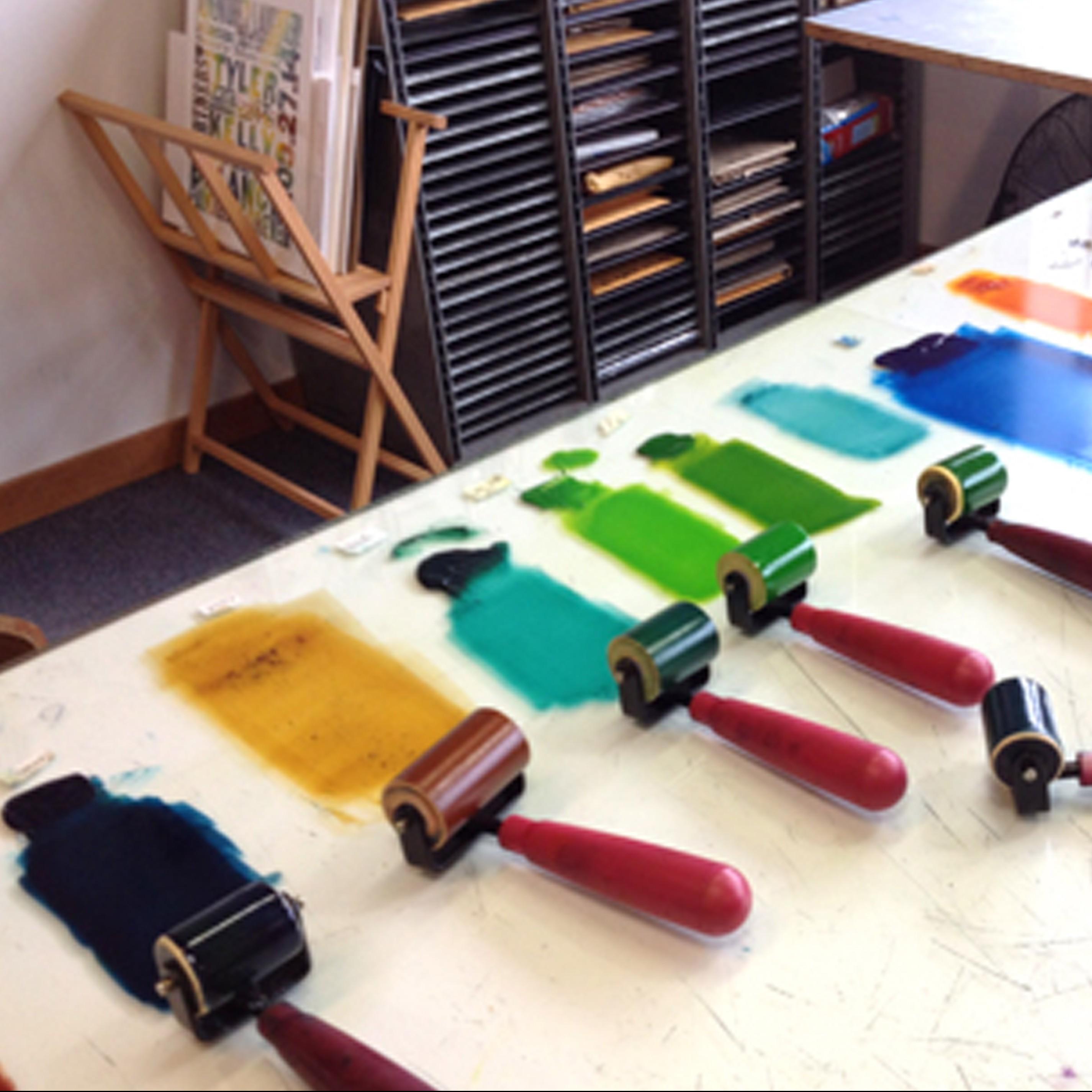 Ken Speckle Letterpress paint rollers