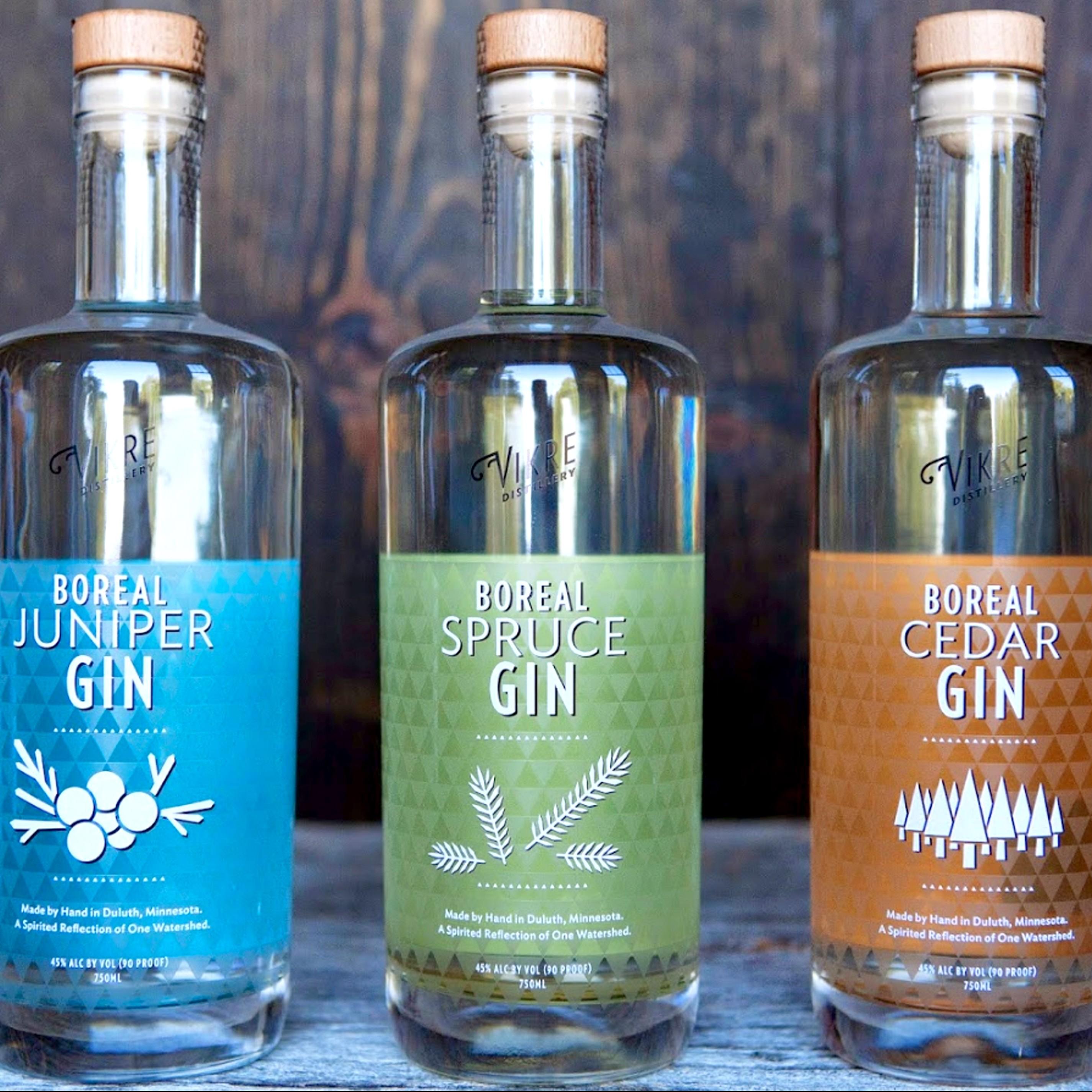 Vikre Distillery Gin Varieties