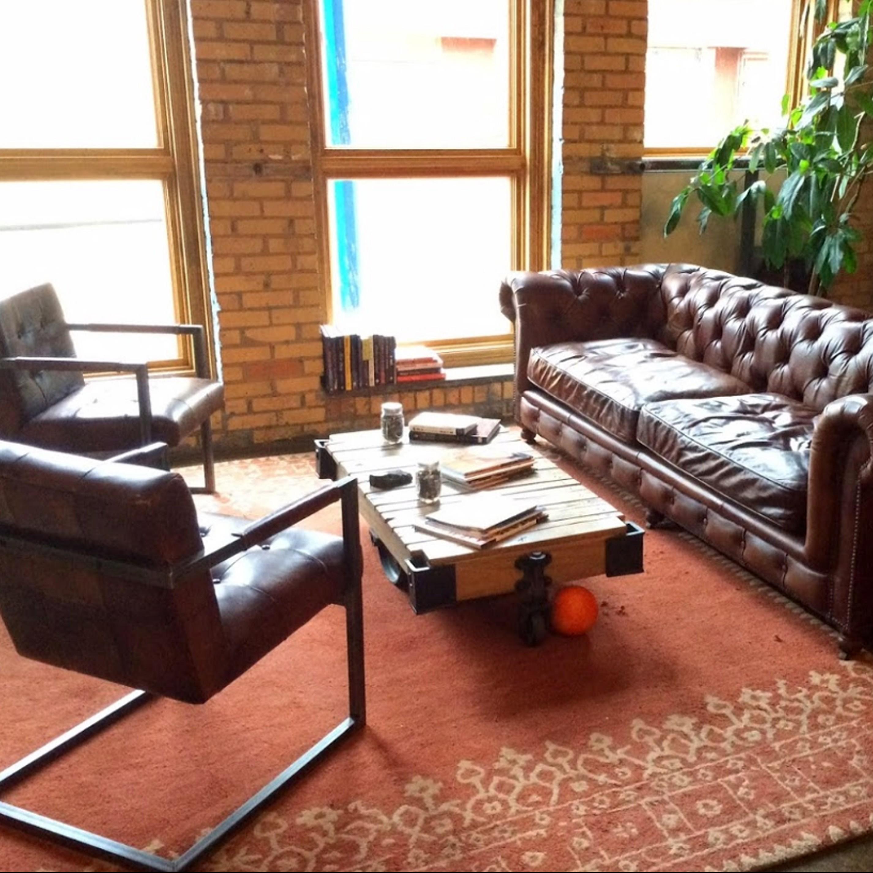 Vikre Distillery lounge area