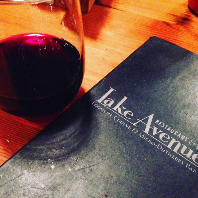 Lake Avenue menu & red wine   Wine at Restaurant