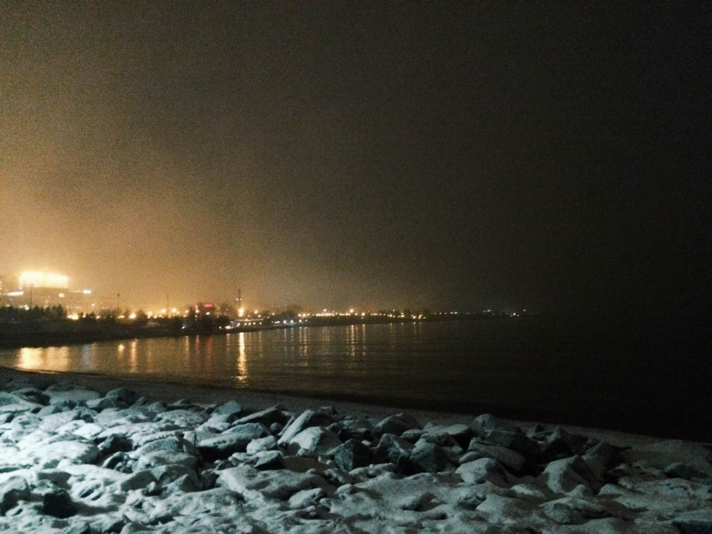 Lakewalk Duluth MN in winter