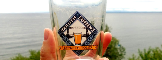 Duluth Brewery Tour Beer Glass