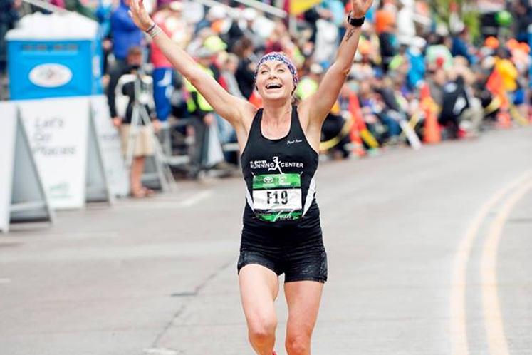 Grandma's Marathon race finisher