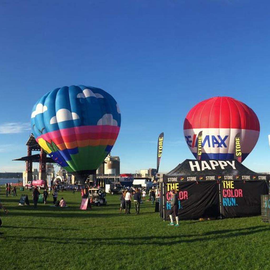 Hot air balloon festival in Bayfront Festival Park