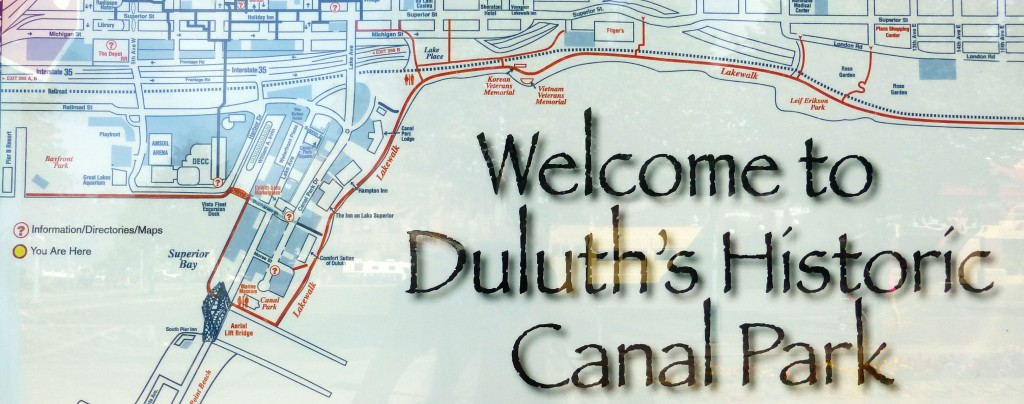 Map of the Duluth Lakewalk