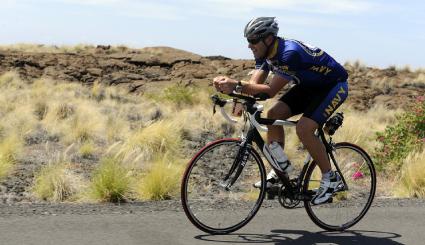 Triathlon biker
