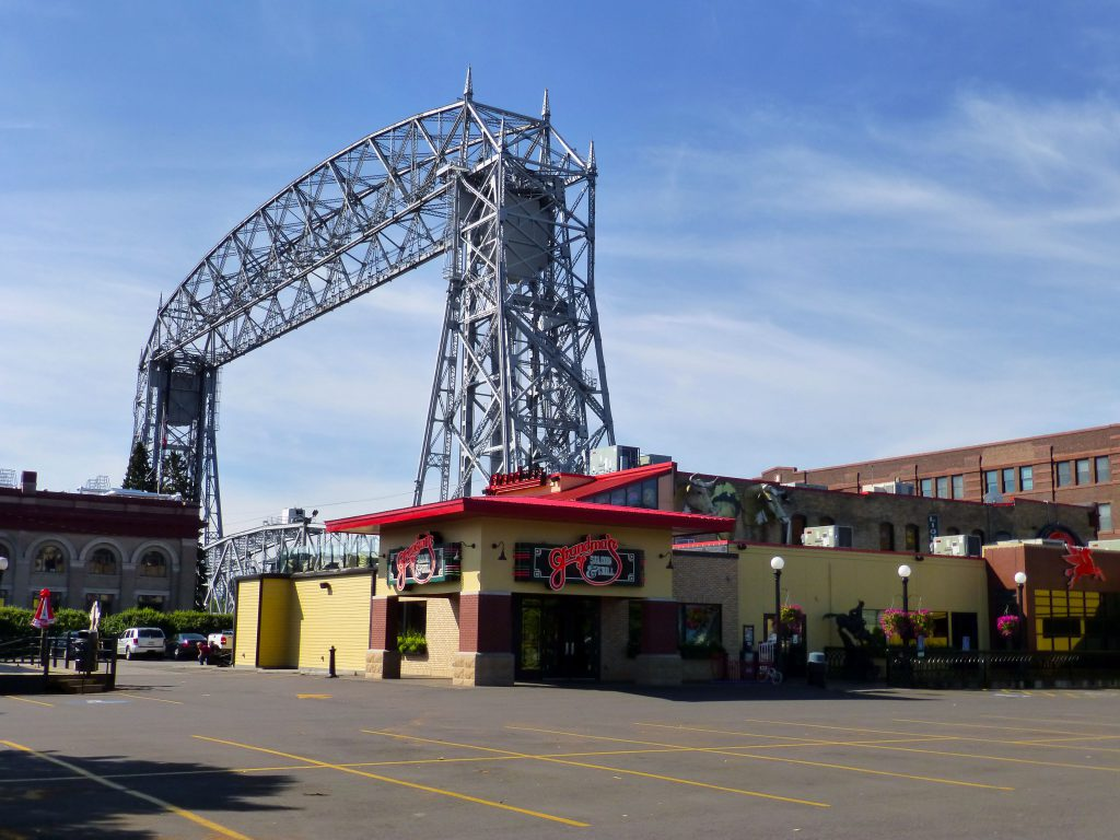 Grandma's Saloon & Grill by the Duluth Aerial Lift Bridge