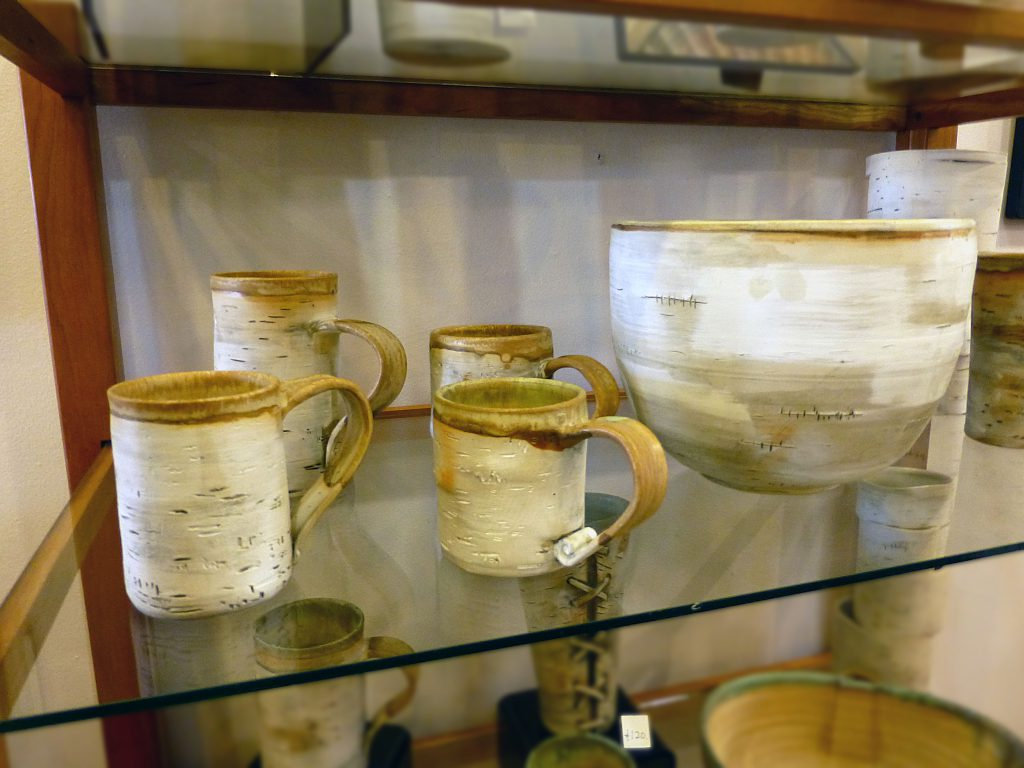 birch tree clay mugs from Siiviis Art Gallery