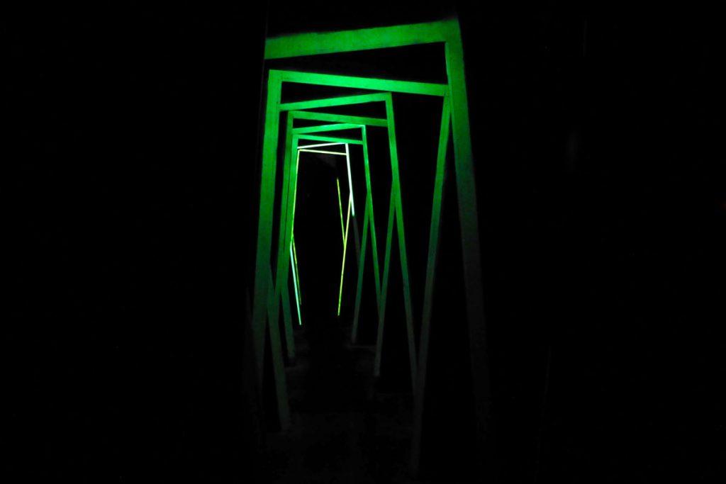 Dizzy hallway experience and haunt