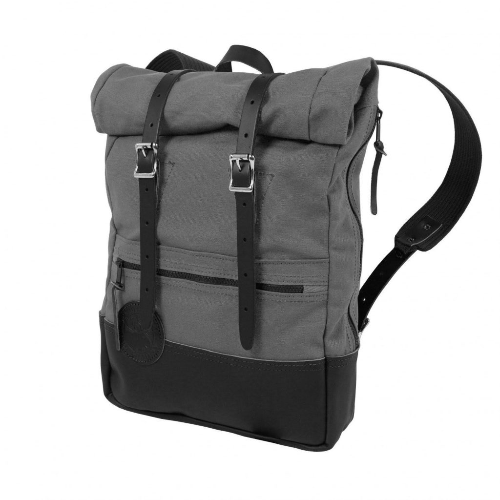 Gray Duluth Pack Deluxe Roll-Top Scout Pack